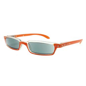 20ae2bf7653f03 Zonneleesbril Hip Oranje met Strass stenen