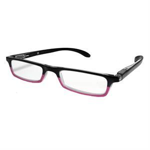 44c46604735617 Leesbril Hip Duo zwart roze