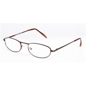 4f8dda591c0380 Leesbril Hip Heren metaal bruin glans