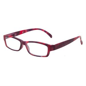 06074f2c877454 Leesbril Hip Dames Rood gemeleerd Mat